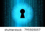 binary circuit board future... | Shutterstock .eps vector #795505057