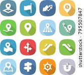 flat vector icon set   pointer... | Shutterstock .eps vector #795507847