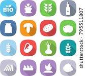 flat vector icon set   bio...   Shutterstock .eps vector #795511807