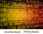 binary circuit board future... | Shutterstock .eps vector #795519643