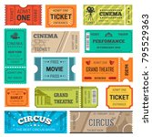 tickets vector design templates ... | Shutterstock .eps vector #795529363
