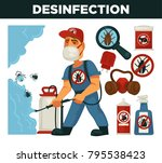extermination or pest control... | Shutterstock .eps vector #795538423