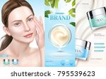 skin care ads  moisturizing... | Shutterstock .eps vector #795539623