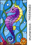 illustration in stained glass... | Shutterstock .eps vector #795545683