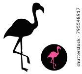 Flamingo Silhouette Isolated O...