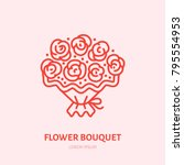 flowers bouquet illustration....   Shutterstock .eps vector #795554953