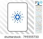 cardano playing card pictogram... | Shutterstock .eps vector #795555733