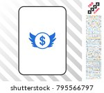 angel investment playing card... | Shutterstock .eps vector #795566797
