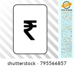 indian rupee playing card... | Shutterstock .eps vector #795566857