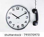 clock and telephone