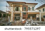 create new house at building...   Shutterstock . vector #795571297
