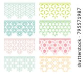 set of colorful seamless... | Shutterstock .eps vector #795571987