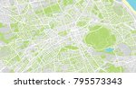 urban vector city map of