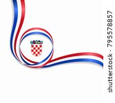 croatian flag wavy abstract... | Shutterstock .eps vector #795578857