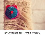 knited rope with mouse face... | Shutterstock . vector #795579097