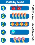 counting game for preschool... | Shutterstock .eps vector #795598057
