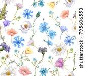 seamles botanical pattern | Shutterstock . vector #795606553