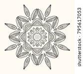 decorative mandala. vector... | Shutterstock .eps vector #795617053