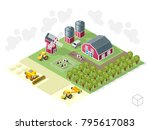 set of isolated isometric... | Shutterstock .eps vector #795617083