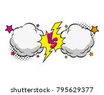versus letters fight...   Shutterstock .eps vector #795629377
