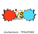 versus letters fight... | Shutterstock .eps vector #795629383