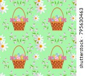 vector easter holiday seamless... | Shutterstock .eps vector #795630463