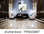 luxury lobby interior. | Shutterstock . vector #795632887