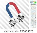 horseshoe magnet iota...   Shutterstock .eps vector #795635023