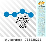 iota chart icon with 7 hundred... | Shutterstock .eps vector #795638233