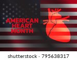 american heart month logo... | Shutterstock .eps vector #795638317