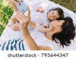 overhead view of beautiful... | Shutterstock . vector #795644347