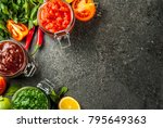 indian traditional food  set of ... | Shutterstock . vector #795649363