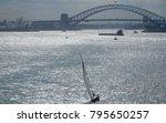 sailing yacht on shimmering... | Shutterstock . vector #795650257