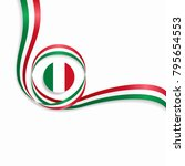 italian flag wavy abstract... | Shutterstock .eps vector #795654553
