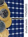 solar panel with brazilian...   Shutterstock . vector #795658903