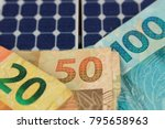 solar panel with varied values...   Shutterstock . vector #795658963