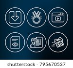 set of view document  load... | Shutterstock .eps vector #795670537