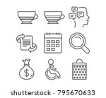 set of mocha  disabled and... | Shutterstock .eps vector #795670633