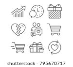 set of update time  demand... | Shutterstock .eps vector #795670717