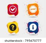 information icons. stop... | Shutterstock .eps vector #795670777