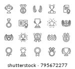 awards line icons. set of... | Shutterstock .eps vector #795672277