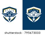 eagle shield and star  security ... | Shutterstock .eps vector #795673033