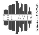 tel aviv israel asia skyline... | Shutterstock .eps vector #795678613