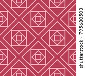 red and pale pink geometric... | Shutterstock .eps vector #795680503