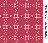 red and pale pink geometric... | Shutterstock .eps vector #795680533