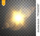 vector transparent sunlight... | Shutterstock .eps vector #795683587
