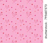 abstract heart seamless pattern ... | Shutterstock .eps vector #795687373