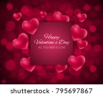 valentine's day heart  love and ... | Shutterstock .eps vector #795697867
