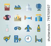 icon set about travel. with... | Shutterstock .eps vector #795705937
