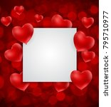 valentine's day heart  love and ... | Shutterstock .eps vector #795710977